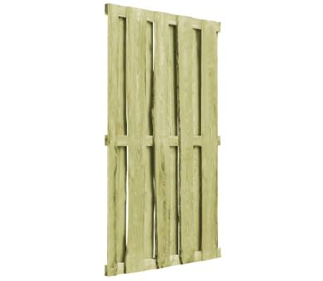 vidaXL Cancello da Giardino in Legno Impregnato 100x170 cm Verde[4/5]
