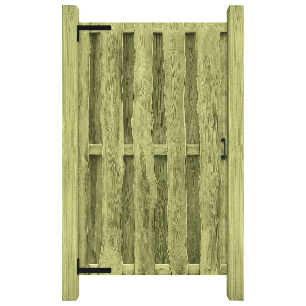 vidaXL Poartă de grădină, verde, 100 x 170 cm, lemn de pin tratat vidaxl.ro
