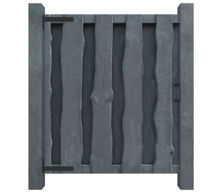 vidaXL Portillon Bois de pin imprégné 100 x 125 cm Gris
