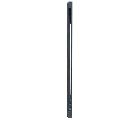 vidaXL Gartentor Imprägniertes Kiefernholz 100×125 cm Grau[6/6]