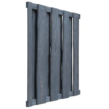 vidaXL Gartentor Imprägniertes Kiefernholz 100×125 cm Grau[4/6]