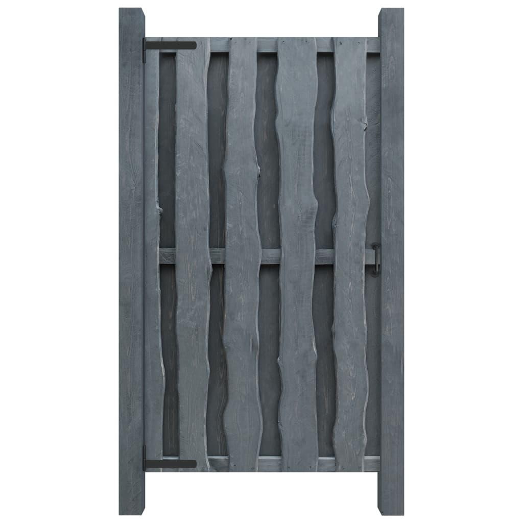 vidaXL Poartă de grădină, gri, 100 x 197 cm, lemn de pin tratat poza 2021 vidaXL