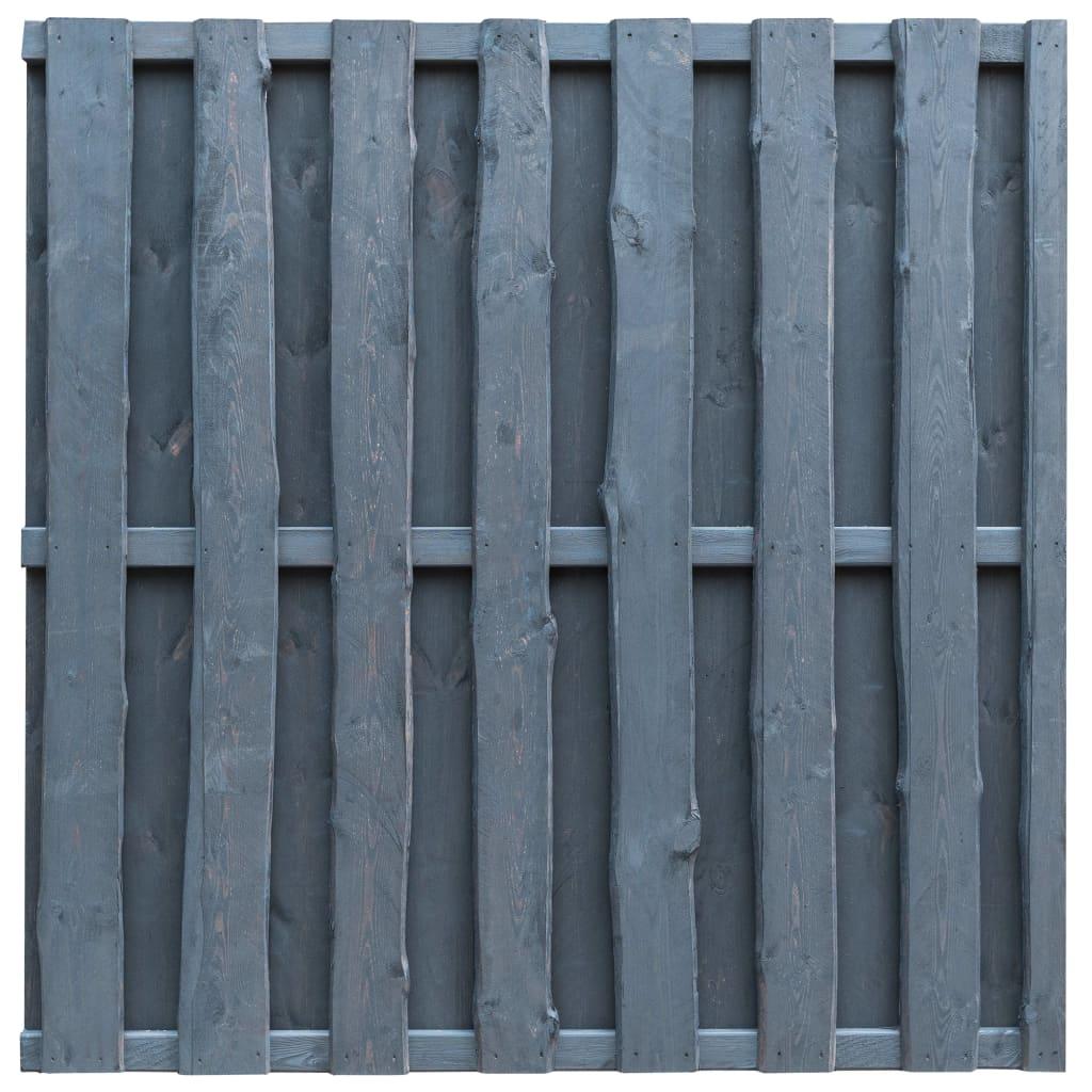 vidaXL Panou de gard cu șipci alternative, gri, 180x180 cm, lemn pin imagine vidaxl.ro