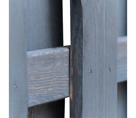 vidaXL Panneau de clôture Pinède FSC 180x180 cm Gris[3/4]