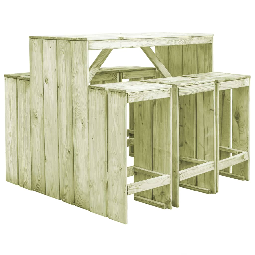 vidaXL Tuinset 7-delig FSC geïmpregneerd grenenhout