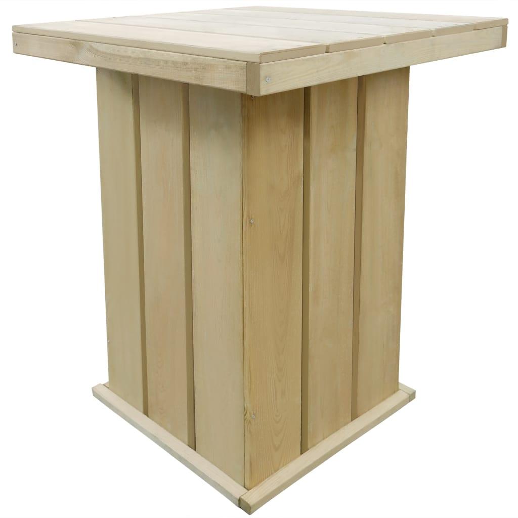 vidaXL Τραπέζι Μπαρ Κήπου 75x75x110 εκ. Εμποτισμένο Ξύλο Πεύκου FSC