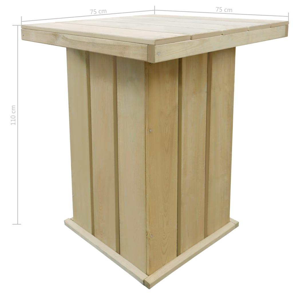 vidaXL Bartafel 75x75x110 cm geïmpregneerd grenenhout