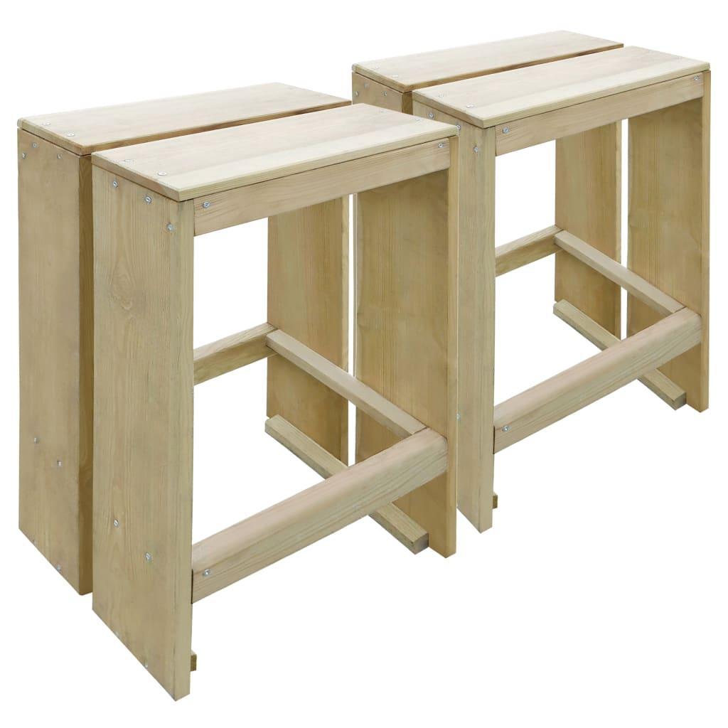vidaXL Scaune de bar de exterior, 2 buc., lemn de pin tratat poza 2021 vidaXL