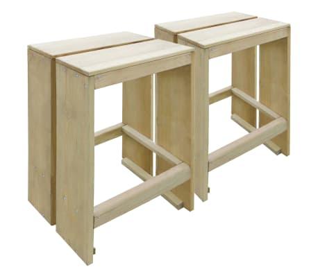 vidaXL Taburetes de jardín 2 unidades madera de pino impregnada