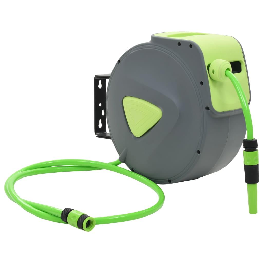 vidaXL Automatický vratný naviják na zahradní hadici nástěnný 20 + 2 m