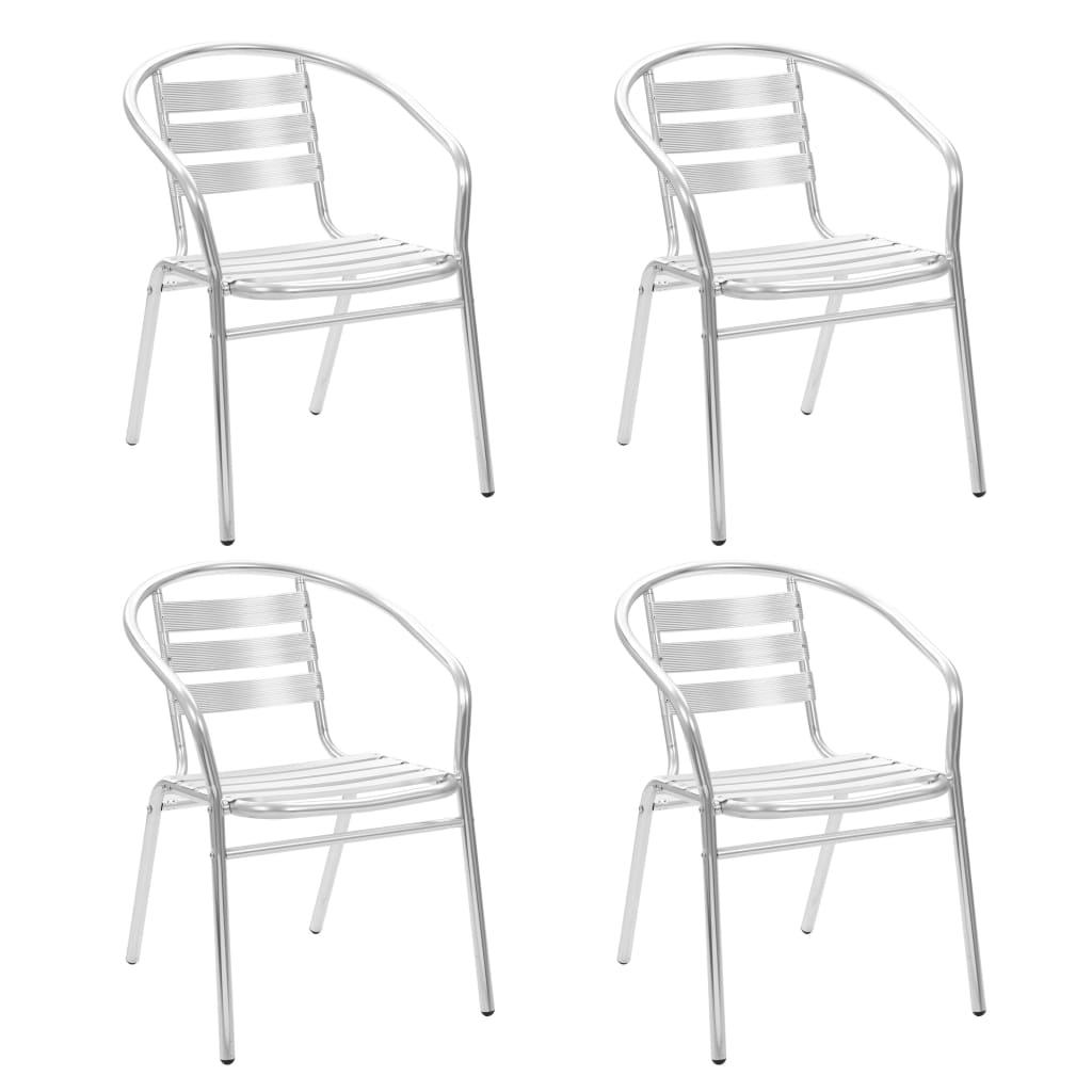 vidaXL Stohovatelné židle 4 ks z hliníku