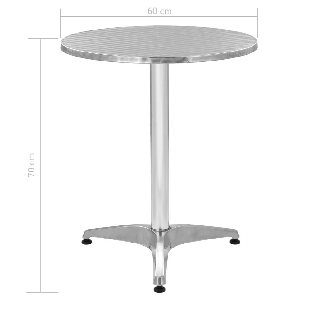 Tavoli Da Giardino In Alluminio Prezzi.44795 Vidaxl Tavolo Da Giardino In Alluminio Rotondo 60x70 Cm