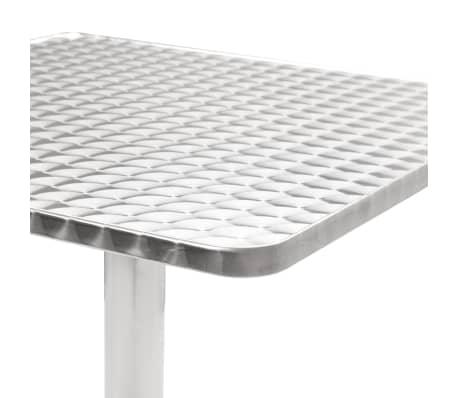 vidaXL Tuintafel 60x60x70 cm aluminium zilverkleurig[3/5]