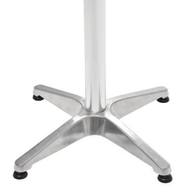 vidaXL Tuintafel 60x60x70 cm aluminium zilverkleurig[4/5]