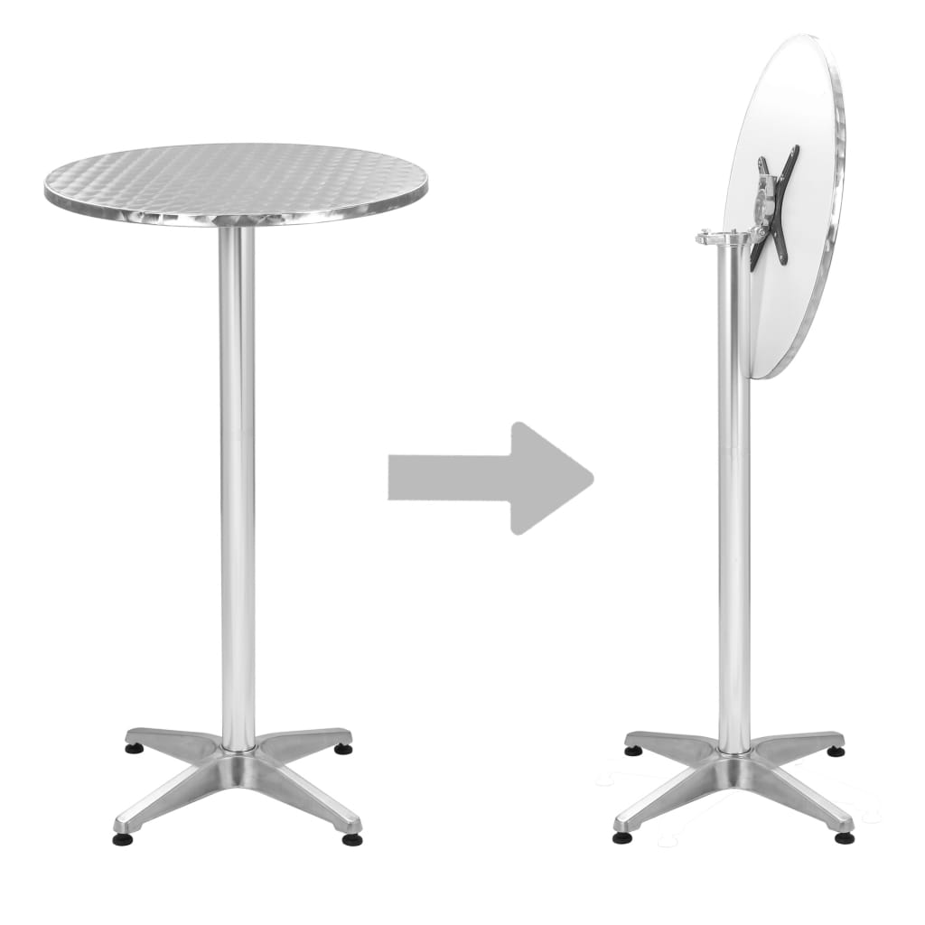 Tavoli Da Giardino In Alluminio Pieghevoli.Tavolo Pieghevole Da Giardino In Alluminio Argento A 60 Cm Ebay