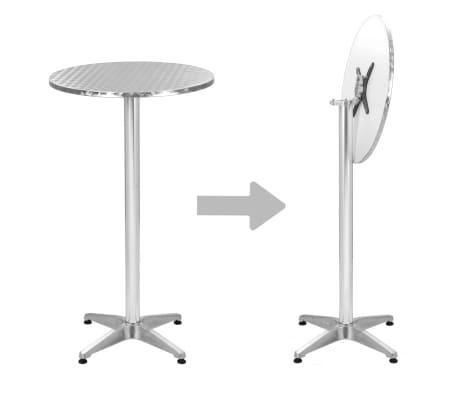 Tavoli Da Giardino In Alluminio Pieghevoli.Vidaxl Tavolo Pieghevole Da Giardino In Alluminio Argento O 60 Cm