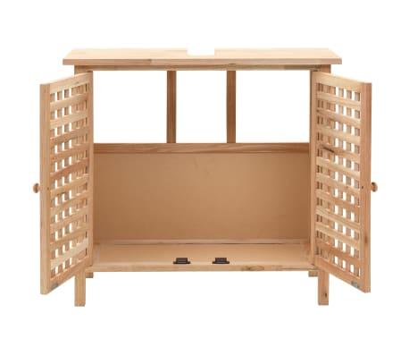 """vidaXL Sink Cabinet Solid Walnut Wood 25.9""""x11.4""""x24""""[2/6]"""