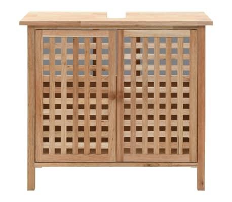 """vidaXL Sink Cabinet Solid Walnut Wood 25.9""""x11.4""""x24""""[3/6]"""