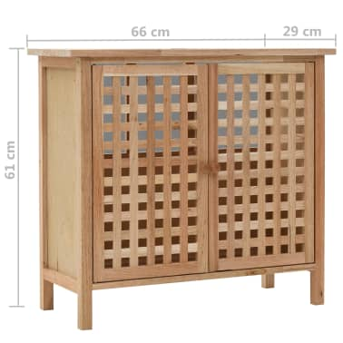 """vidaXL Sink Cabinet Solid Walnut Wood 25.9""""x11.4""""x24""""[6/6]"""
