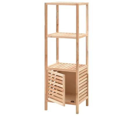 vidaxl armoire de salle de bain bois de noyer 39 5x35 5x123 cm. Black Bedroom Furniture Sets. Home Design Ideas