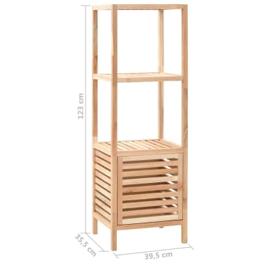 vidaXL Armoire de salle de bain Bois de noyer 39,5x35,5x123 cm[7/7]