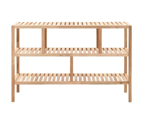 "vidaXL Bathroom Shelf Solid Walnut Wood 39.4""x15.7""x25.6""[2/6]"