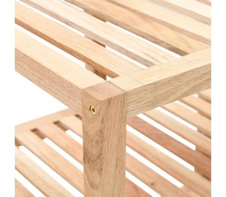 "vidaXL Bathroom Shelf Solid Walnut Wood 39.4""x15.7""x25.6""[3/6]"