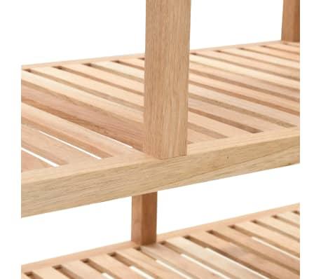 "vidaXL Bathroom Shelf Solid Walnut Wood 39.4""x15.7""x25.6""[4/6]"