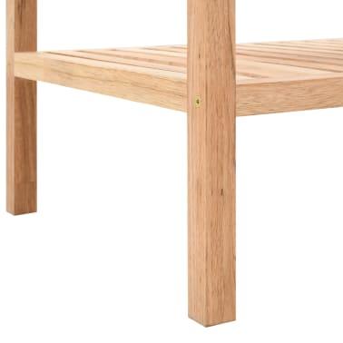 "vidaXL Bathroom Shelf Solid Walnut Wood 39.4""x15.7""x25.6""[5/6]"