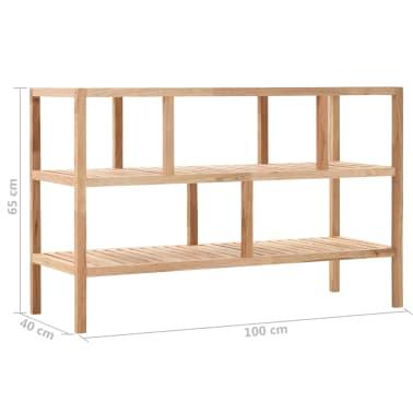 "vidaXL Bathroom Shelf Solid Walnut Wood 39.4""x15.7""x25.6""[6/6]"