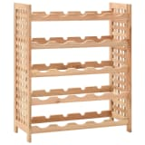 "vidaXL Wine Rack for 25 Bottles Solid Walnut Wood 24.8""x9.8""x28.7"""