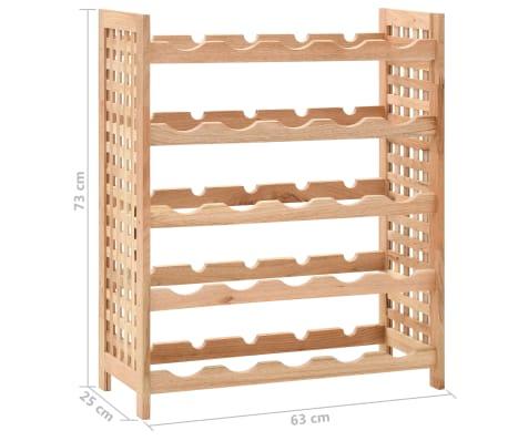 vidaXL Wijnrek voor 25 flessen 63x25x73 cm massief walnotenhout[8/8]