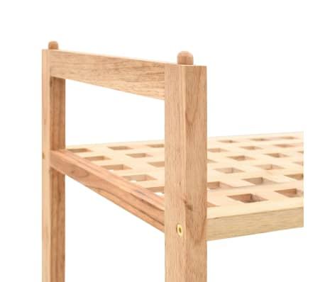 """vidaXL Shoe Rack Solid Walnut Wood 27.2""""x10.2""""x15.7""""[4/6]"""