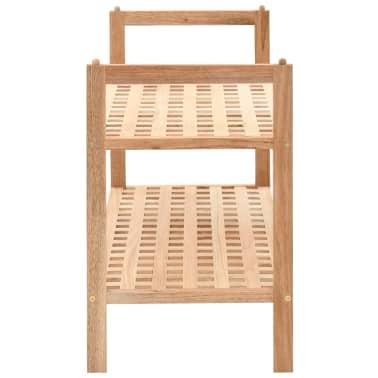 """vidaXL Shoe Rack Solid Walnut Wood 27.2""""x10.2""""x15.7""""[3/6]"""