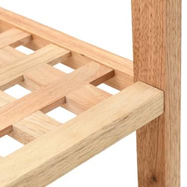 """vidaXL Shoe Rack Solid Walnut Wood 27.2""""x10.2""""x15.7""""[5/6]"""