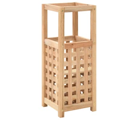 vidaXL Paragüero de madera maciza de nogal 18x18x50 cm[1/5]