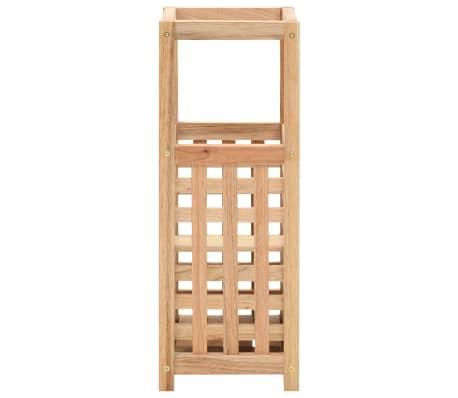 vidaXL Paragüero de madera maciza de nogal 18x18x50 cm[2/5]