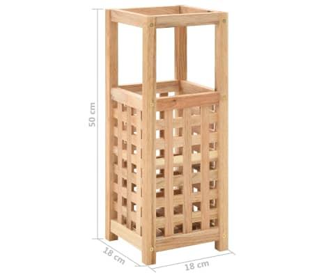vidaXL Paragüero de madera maciza de nogal 18x18x50 cm[5/5]