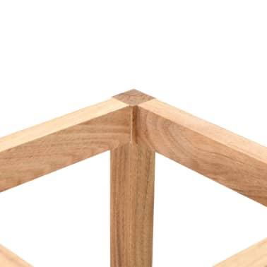 vidaXL Paragüero de madera maciza de nogal 18x18x50 cm[3/5]