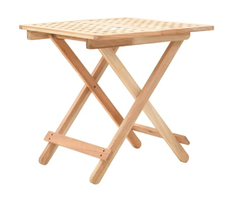 vidaXL Table d'appoint pliante 50 x 50 x 49 cm Bois de noyer massif