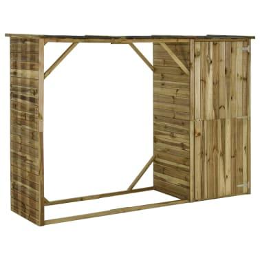 vidaXL Tuinschuur 253x80x170 cm grenenhout[1/7]