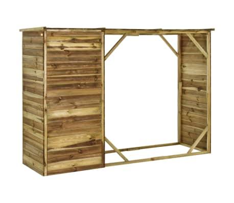 vidaXL Tuinschuur 253x80x170 cm grenenhout[4/7]