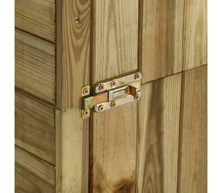 vidaXL Tuinschuur 253x80x170 cm grenenhout[6/7]