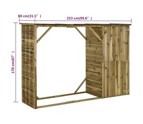 vidaXL Tuinschuur 253x80x170 cm grenenhout[7/7]