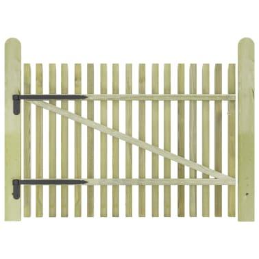 vidaXL Porte de jardin en piquets Bois de pin imprégné FSC 100 x 75 cm[2/5]