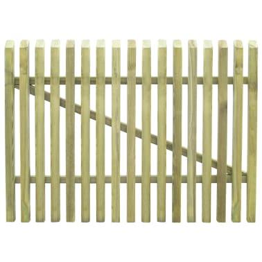 vidaXL Porte de jardin en piquets Bois de pin imprégné FSC 100 x 75 cm[3/5]