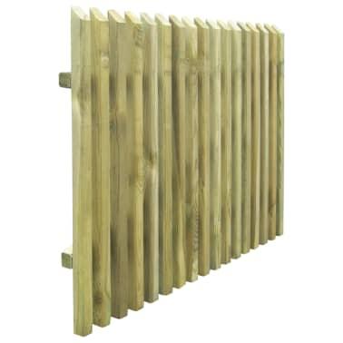 vidaXL Porte de jardin en piquets Bois de pin imprégné FSC 100 x 75 cm[4/5]