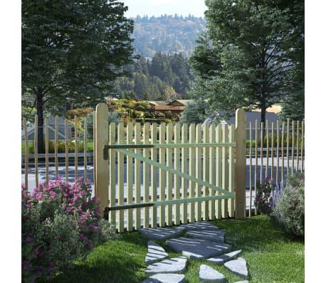 vidaXL Porte de jardin en piquets Bois de pin imprégné FSC 100 x 75 cm[1/5]