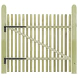 vidaXL Picket Garden Gate FSC Impregnated Pinewood 100x100 cm