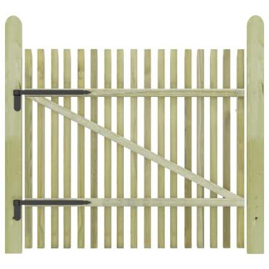 vidaXL Portail de jardin en piquets Bois de pin imprégné FSC 100x100cm[2/5]